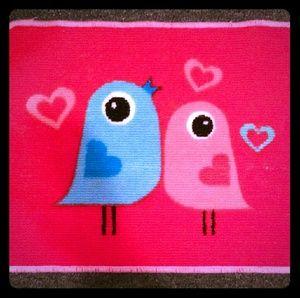 Target LOVE BIRDS Small Decorative Rug